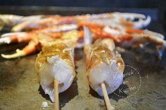 Cuisson des brochettes de langoustines à la plancha sur kaderickenkuizinn.com
