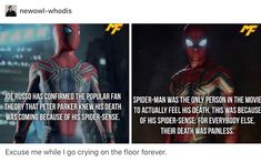 What the heck marvel! Our favorite hero is the only one to feel it! Dc Memes, Marvel Memes, Marvel Dc Comics, Marvel Avengers, Spideypool, Held, Tom Holland, Marvel Cinematic Universe, Infinity War