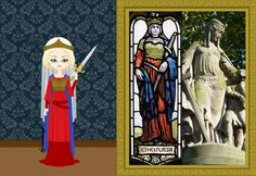 Aethelflaed of Mercia  Aethelflaed is the daughter of Alfred the Great, who is given in marriage, still a child, to the heir of Mercia, Æthelred. She was a natural leader, and as a warrior, leading the Saxon army against the attacks of the Danes.  c. 911 AD