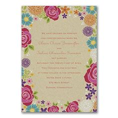 Floral Romance - Invitation    |  40% OFF  |  http://mediaplus.carlsoncraft.com/Wedding/Wedding-Invitations/3254-TWS34806-Floral-Romance--Invitation.pro
