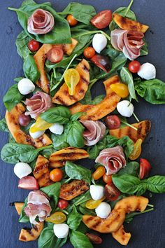 Grilled Melon and Prosciutto Caprese   www.thepigandquill.com   #grainfree #summer #salad