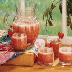 Rhubarb Slush ~ It's a family tradition to have this slush at our annual reunion... it's delicious!!  Rating: 5/5