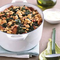 one of my favorite winter soups - White Bean, Sausage and Kale Stew