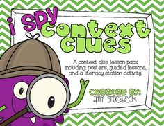 This spy themed context clue pack includes three learning activities, including a guided mini lesson, a spy kit note taking activity, and an independent practice activity.This pack also introduces six reading strategies students can use to determine the meaning of unfamiliar words:1.