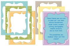 Classroom Freebies Too: Borders and Frames