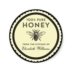 Honey Jar Labels for Sale | vintage_homemade_honey_stickers-rb518535216934ba590e789857937bec6 ...