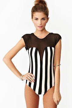 Vertigo Stripe Bodysuit