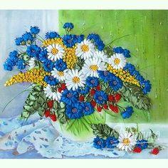 Полевые цветы на окне НЛ-3014