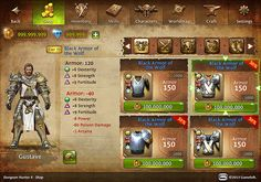 Dungeon Hunter 4 UI on Behance