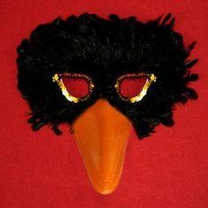 crow costume mask