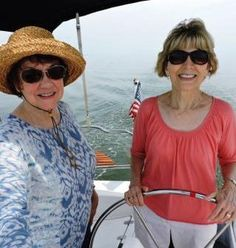 MEMORIAL SAIL - Nanci Bond and Ellen Janoncyzk went sailing to commemorate the mutual day of their late husbands' birthday. They were both named Bob.