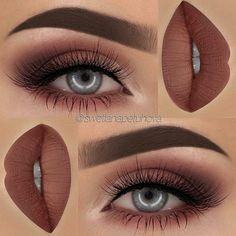 Perfect Thanksgiving Burnt Umber Lip & Eye Shadow Combination