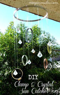 DIY Clamp and Crystal Sun Catcher