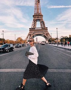 Polka Dot Craze How to Rock the Trendiest Print of 2018 black and white skirt white sweater