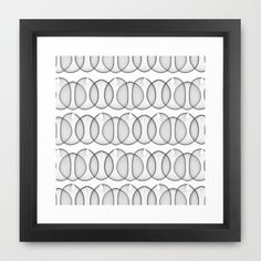 Black and White Bubbles Framed Art Print