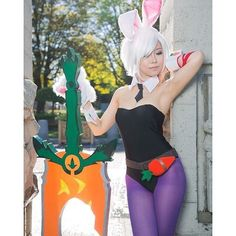 Battle Bunny Riven cosplay by @miyukicosplay  Personal Acc: @Guardian_Rabbz {#Hashtags} #LeagueOfLegends #Lol #Gaming #RiotGames #Kawaii #FanArt #Anime #Art #Cosplay #Riven #BattleBunnyRiven #RivenCosplay by lol.artandcosplay