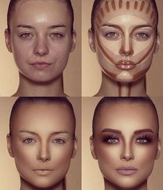 How To Do Make-up – Step By Step Ideas For The Good Look Spotlight contour hypnaughty.make-up samer khouzami mild pores and skin Makeup Contouring, Contouring And Highlighting, Skin Makeup, Highlight Contour Makeup, Makeup Cosmetics, Contour Makeup Products, Makeup Eyeshadow, Contouring For Beginners, Makeup Eyebrows