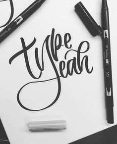 This weeks epic #typeyeahtuesdays entry by @artbyapu with her creative lettering of the #typeyeahlogo 👏🏻 Join the challenge by designing…