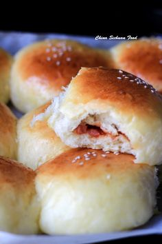 Char Siu Bao-baked version - Pillow soft baked buns with Chinese BBQ pork-Char Siu Bao