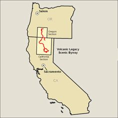 Volcanic Legacy Scenic Byway - Map | America's Byways