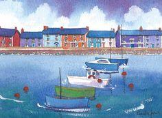 Original Watercolour....Aberaeron Harbour by Pamelajonesartstudio, £20.00