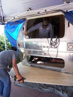 Before      After       ... Airstream Travel Trailers, Airstream Living, Vintage Travel Trailers, Travel Trailer Decor, Airstream Interior, Airstream Remodel, Airstream Campers, Camper Renovation, Trailer Remodel