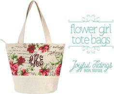 Etsy SALE Embroidered Flower Girl Tote Bag, Flower Girl Gift, Girl's Purse, Monogrammed, Back to School B Women's Handbags, Leather Handbags, Personalized Tote Bags, Flower Girl Gifts, Embroidered Flowers, Back To School, Reusable Tote Bags, Monogram, Purses