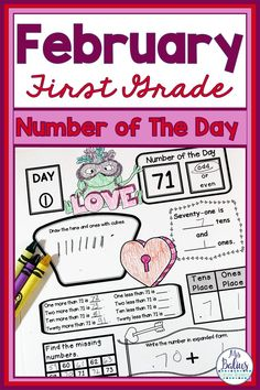 First grade students need daily number practice. These printable, easy-to-use first grade Number of the Day activities are the perfect way to practice number concepts. Number of the Day gives multiple ways to practice number sense and place value concepts. My kids can't put them down! Your kids will love them and will ask for more! These printable pages are great for morning work and homework! February, no-prep and easy for teachers. #numbersense #NumberofTheDay #FirstGradeMath