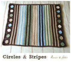 Lanas Hilos: crochet blanket- circles and squares