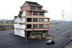 Casa clavo, la resistencia china a la expulsión inmobiliaria