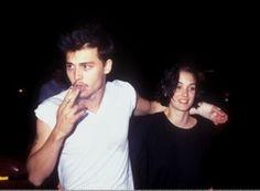 johnny depp & winona ryder #couple #celebrity #rock #vintage