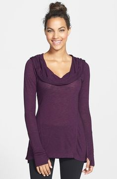 Free shipping and returns on Zella 'All Shirred Up Too' Pullover (Online Only) at Nordstrom.com. Shaped by ruching, a soft, sweater-knit pullover is topped with a sumptuous cowl neck that can be styled as a draping hood on your way out of the studio.