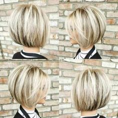 50 besten Pixie und Bob Cut Frisur Ideen 2019 alt = , 50 Best Pixie And Bob Cut Hairstyle Ideas 2019 alt= , Coiffure Source by mariannevaneyck Short Stacked Bob Haircuts, Choppy Bob Hairstyles, Bob Hairstyles For Fine Hair, Trending Hairstyles, Short Hair Cuts, Beautiful Hairstyles, Hair Short Bobs, Styling Short Hair Bob, Bobbed Haircuts