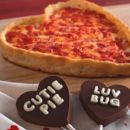 Heart shaped pizzas made with love!