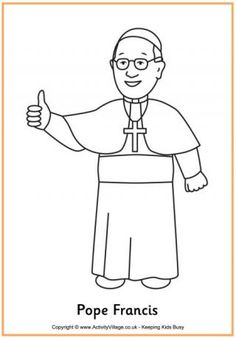 Pope Francis Colouring Page
