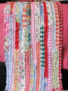 """easy peasy """"quilt"""" of scraps patched together."""