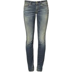 Replay HYPERFLEX LUZ Slim fit jeans blue (295 CAD) ❤ liked on Polyvore featuring jeans, stone blue, mens jeans, skinny leg jeans, blue skinny jeans, tall skinny jeans and tall jeans