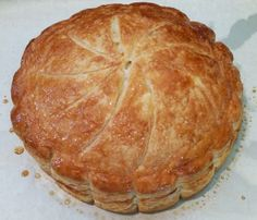 whole pithivier or French King cake...omg, this was a delicious breakfast yesterday!