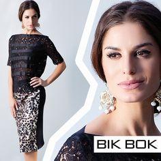 """Mistura de tendências """"Animal Print"""" e """"Dark Romance"""" Emoticono heart #fashion #bikbok"""