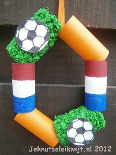 voetbalknutsel voetbal krans