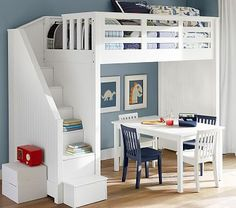 Catalina Stair Loft Bed #pbkids