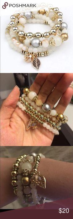 4pcs set crystal beans bracelet Lady bracelet! New with tag! One size. Good quality Jewelry Bracelets