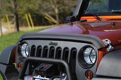 Bug Deflector, Matte Black; 07-16 Jeep Wrangler JK - Crawltech Offroad