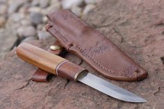 Bushcraft outdoor knife I made.