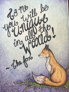 The little prince fox quote