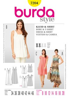 Simplicity Creative Group - Burda Style Dress & T-Shirt; 7204