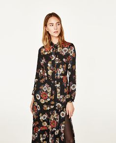 Image 2 of LONG DRESS WITH FLORAL PRINT from Zara