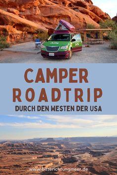Dieser Pin enthält: Roadtrip mit dem Camper durch die USA. Auf den Fotos ist der Jucy Camper abgebildet sowie der Canyonlands Nationalpark Usa Roadtrip, Roadtrip Europa, Montenegro, Bryce Canyon, Nationalparks Usa, Las Vegas, Camper, Road Trip, Outdoor
