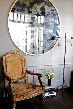 amazing amazing amazing distressed arm chair.
