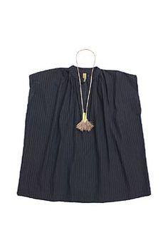 women's black khadi top